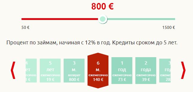 рассчитать займ в Omaraha