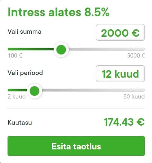 kalkulaator raha24